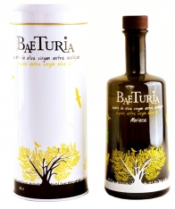 Bio-Olivenöl nativ extra Morisca Baeturia + Flaschenetui