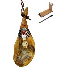 Serrano Schinken Reserva Mayoral + Schinkenhalter + Messer