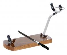 Schinkenhalter zusammenklappbar Buarfe mit Schinkenmesser
