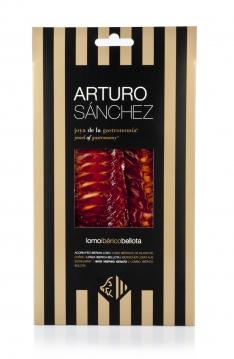 Iberisches Pata Negra Lendenstück aus Eichelmast Roscal Arturo Sánchez handgeschnitten