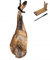 Reiner 100% Pata Negra Schinken aus Eichelmast Gran Reserva Arturo Sánchez (Vorderschinken) + Schinkenhalter + Messer