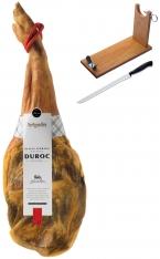 Serrano Schinken Reserva Duroc Artysán (Vorderschinken) + Schinkenhalter + Messer