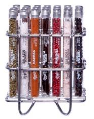 Gewürz-Regal mit 21 Reagenzglas-Gewürzen Regional Co.