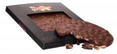 Schokoladen-Mandel-Turrón rund Turrones Primitivo